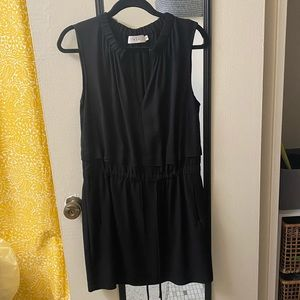 A.L.C. Black zip front mini dress